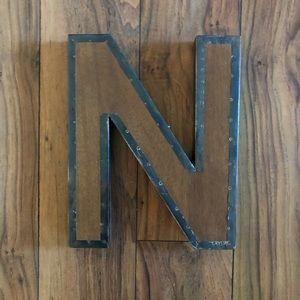 Restoration Hardware Baby & Child Wood Letter N